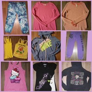 9 Women clothing,S M+L hoodes sweaters joggers